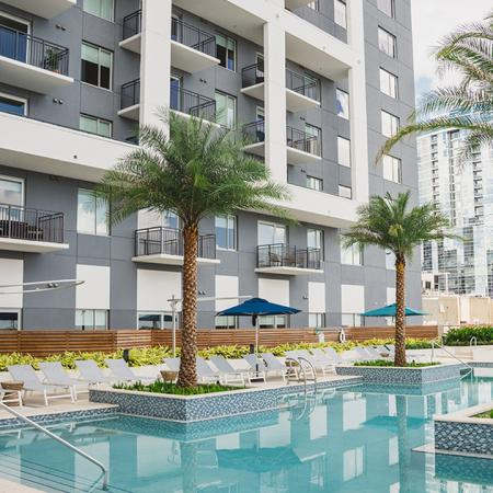 Pool and Outdoor Lounge for Entertaining | Apartment Homes in Orlando, Florida | Luxury Apartments in Orlando