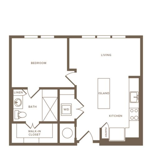 Floor Plan A02 | Modera Howell | Apartments For Rent In Dallas TX