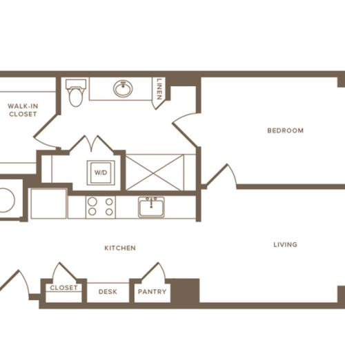 Floor Plan A06 | Modera Howell | Apartments For Rent In Dallas TX