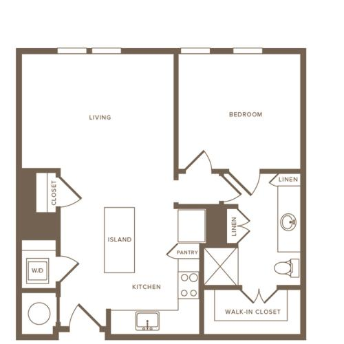 Floor Plan A07 | Modera Howell | Uptown Dallas Apartments