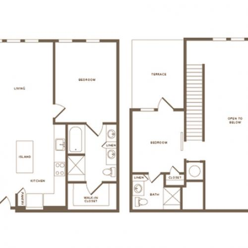 3 Bdrm Floor Plan C02 Penthouse | Modera Howell | Apartments For Rent In Dallas TX