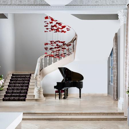 Main foyer with Grand Piano and elegant staircase