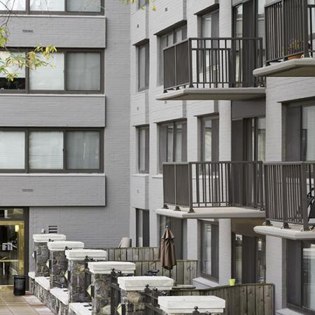 Private balconies patios | Alister Arlington Ridge | Arlington, Virginia | Apartment Homes | Cozy Living Spaces