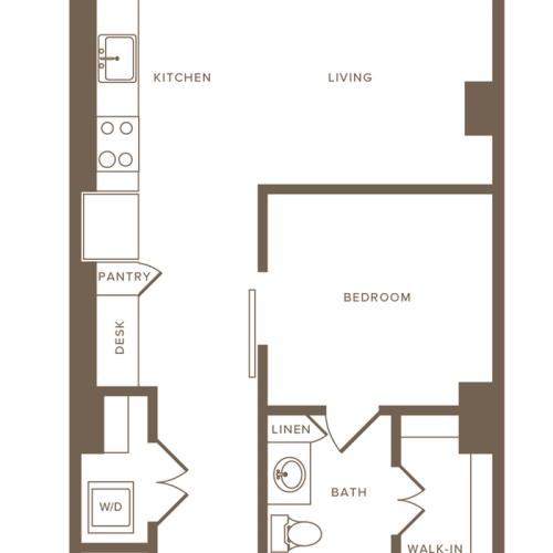 Floor Plan A03 | Modera Howell | Uptown Dallas Apartments