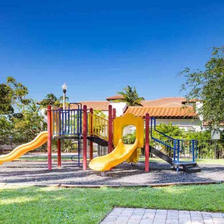 Brightly colored playground area
