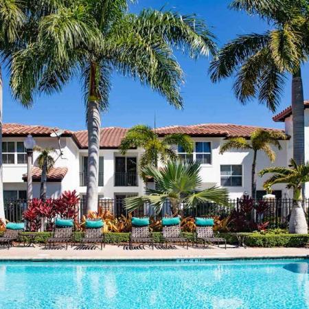 Mediterranean inspired resort style pool