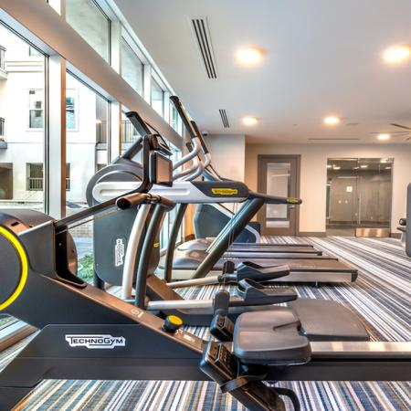 High-Tech Fitness Center with Spin Flex Studio