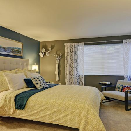 Master Suite with Queen Bed, Night Stands, Full Size Dresser and Accent Chair