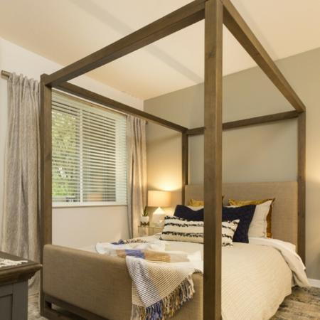 Cozy bedroom with window.