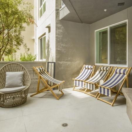 Spacious patio with ample amount of seating space.