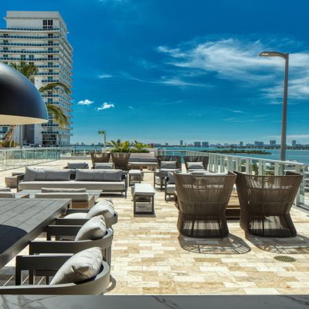 Rooftop Terrace with Bar Area and Ample Social Seating