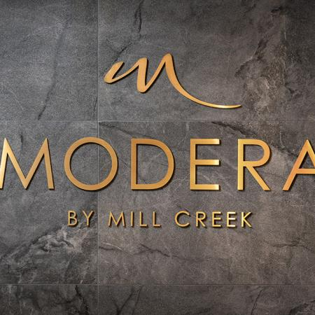Interior signage of Modera Cap Hill Apartments
