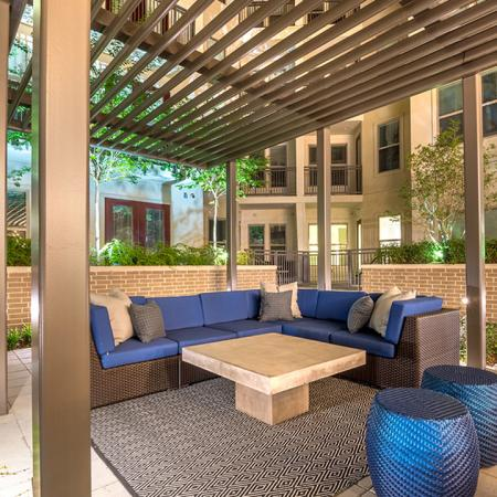Covered Outdoor Seating Area for Relaxing