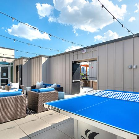 Outdoor Gathering Area with Ping Pong Table