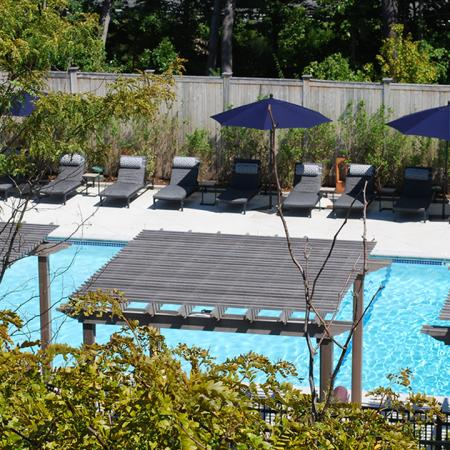 Cabanas and Pool  | Modera Needham | Apartment Homes | Needham, MA Apartments