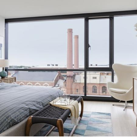 Arris | Luxury Apartment Homes | Washington DC Floor to ceiling window options with spectacular city views.