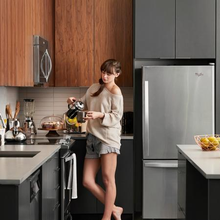 Chef inspired kitchens with plenty of storage and stainless steel appliance packages