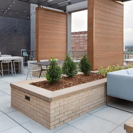 Rooftop lounge seating
