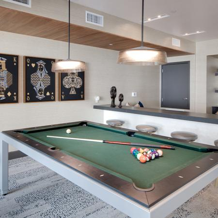 Game room featuring a billiards table