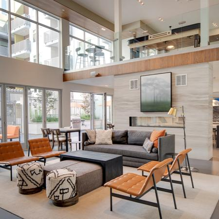 Expansive, naturally lit resident lounge