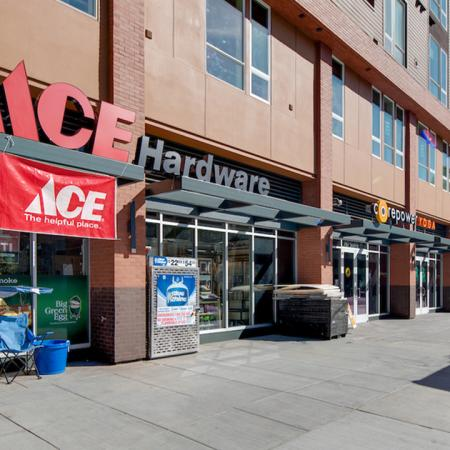 Exterior of local establishment ACE Hardware