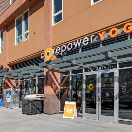 Exterior of local establishment CorePower Yoga
