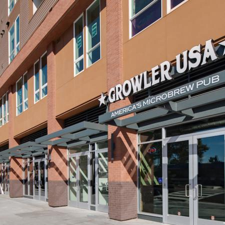 Exterior of local establishment Growler USA