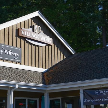 Exterior of local establishment Village Wines