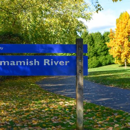 Exterior signage for Sammamish River Trail