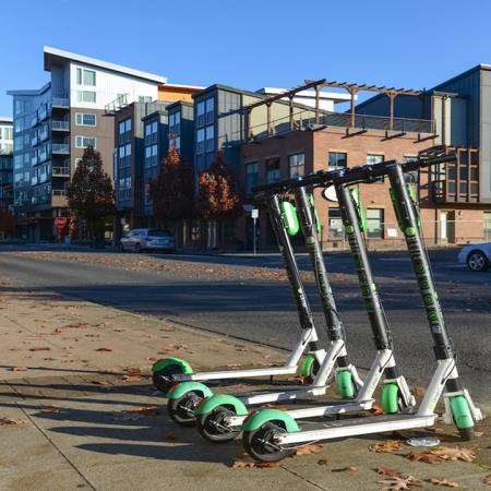 Rent-able scooters