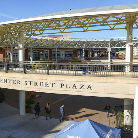 Exterior of Center Street Plaza