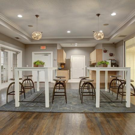 Clubhouse seating offering flexible work and play space