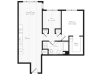 924 square foot one bedroom one bath floor plan image