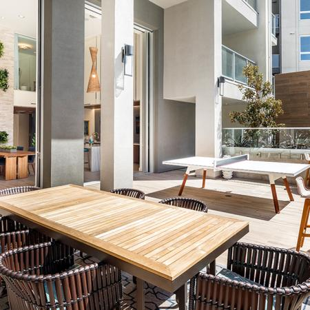 Spacious outdoor amenity space with plenty of seating.