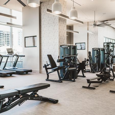 Fitness center with cardio and machines