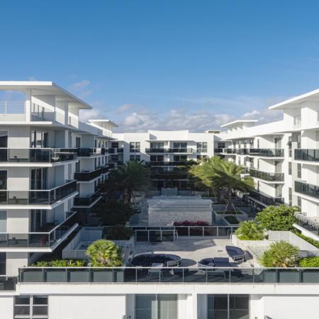 Aerial views of Modera Port Royale Apartments