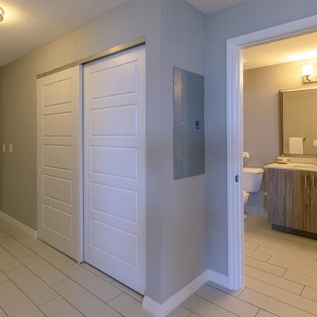 Entryway closet and turn into guest bath