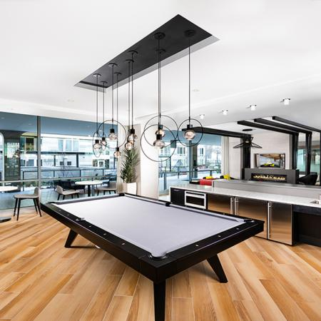 Billiard Lounge with Kitchenette | Modern on M | Apartment Homes | Washington DC