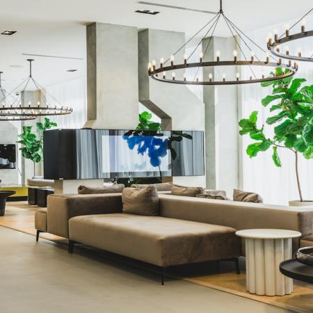 Gorgeous lobby area with ample social seating