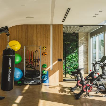 TRX Stations and Fitness Center with Spin bikes