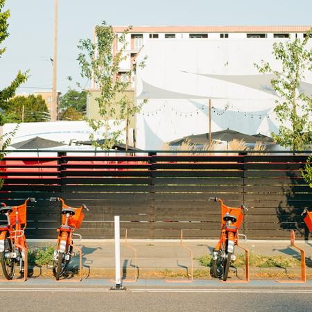 Bike rentals located outside