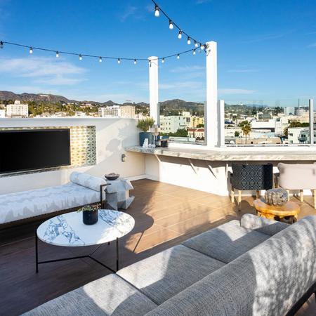 Wrap around rooftop lounge for the best resident entertainment