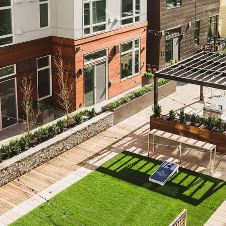 Interior courtyard for resident events