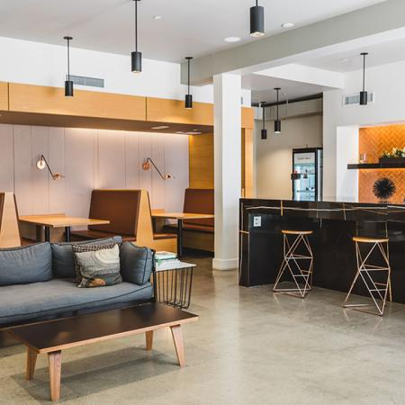 Resident Lounge with ample seating options for work or play
