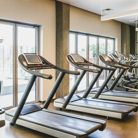 Expansive fitness center with Technogym® strength and cardio equipment