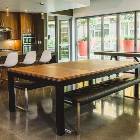 Resident lounge seating options for work or play