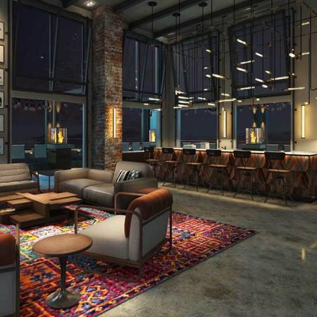 Rendering of Sky Lounge at night
