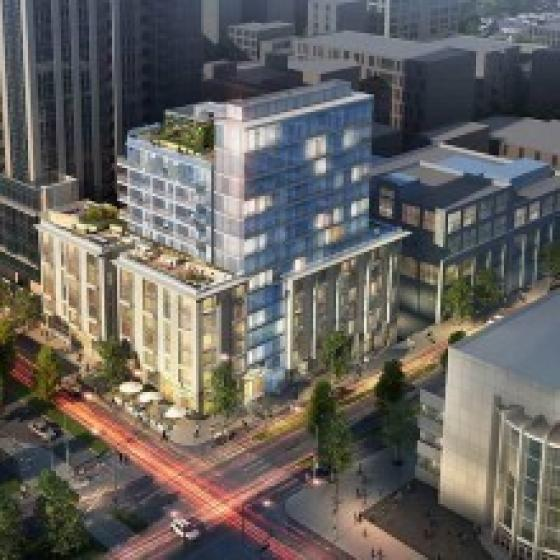Exterior rendering of Modera Rincon Hill Building in City