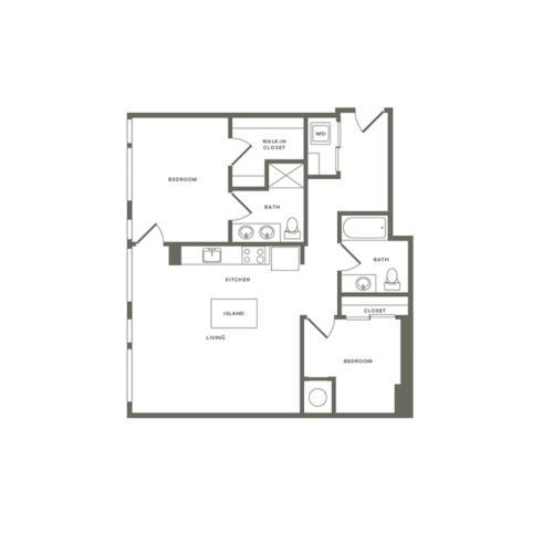 B01 1034 sq. ft.
