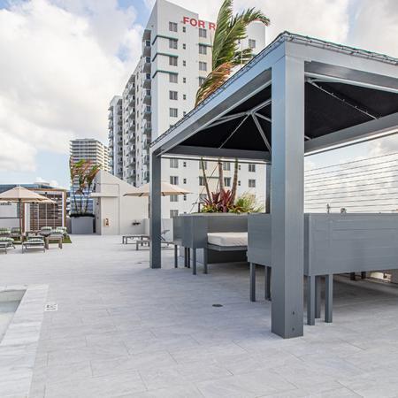 Cabana near pool